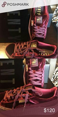 NWT Fenty Puma Pink Fur Slides Sz 7.5 NWT