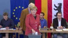 CDU de Merkel gana legislativas en Alemania, según sondeos - Proporcionado por AFP