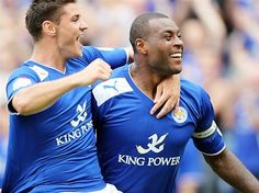 Captain Morgan scores his first for Leicester City.