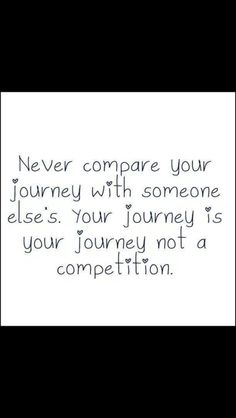 Do not compare with others. Only compare with yourself in the past.