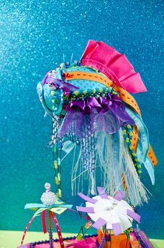 Purple Fin Koi Fish Goldfish Sculpture by BrookeConnorDesign, $50.00
