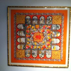 Framed Hermes scarf. Easy art!