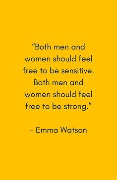 FEEL FREE TO BE SENSITIVE - FEMINIST QUOTE #feminist #feminism #feministshirt #redbubble #emmaeatson