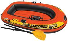 Intex Explorer 200 Boat Sets 2 Person Inflatable Boat River Floats Oars Air Pump #Intex