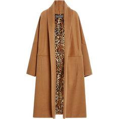 Alberta Ferretti Oversized Camel Felt Coat (53.801.715 IDR) ❤ liked on Polyvore featuring outerwear, coats, alberta ferretti, beige coat, alberta ferretti coat, oversized coat and shawl collar coat