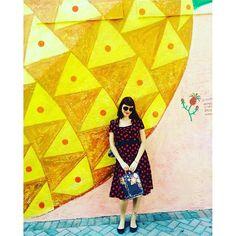 Photo from seemlierleech #weloveourcustomers #polkadot dress #retro #swingdress #hrlondon #catslikeusstyle