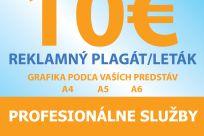Grafické riešenie a návrh plagátu - letáku / A4 - A5 - A6 - Jaspravim.sk