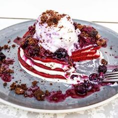 Red velvet pancakes from 50SixOne. | 16 Desserts Everyone In Adelaide Needs To…
