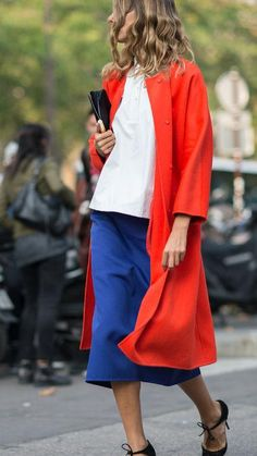 How good does a bold red coat look? Click for other bold shades we love for outerwear (and options to shop now!)