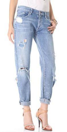 Perfect destroyed boyfriend jeans