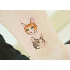 : 2 Cats  냐옹 냐옹  #tattooistbanul #tattoo #tattoos #tattooing #cat #cats #cattattoo #sketch #tattoodesign #design #drawing #designtattoo #drawingtattoo #타투이스트바늘 #타투 #고양이타투 #고양이 #동물타투 #냥이