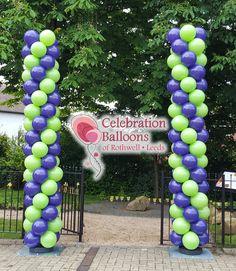 Eye catching balloon columns from www.rothwellballoons.co.uk Balloon Columns, Balloon Arch, The Balloon, Balloon Pictures, Celebration Balloons, Balloon Animals, Wakefield, Leeds, Arches