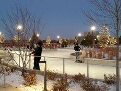 ice skating trail night Maple Grove MN!  looks so fun!