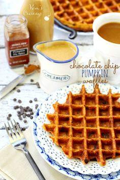 Pumpkin Chocolate Chip Waffles1 cup Kodiak Cakes Flapjack and Waffle Mix (any variety) 1 teaspoon pumpkin pie spice or cinnamon ¼ cup pumpkin puree 1 cup water or any milk variety 1/3 cup mini chocolate chips