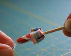how to turn a narrow piece with a straw and a wooden skewer. tried it. it workes!