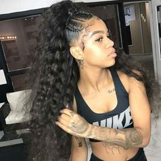 inch Malaysian human hair bundles loose wave hair extensions 100 unprocessed Virgin Human Hair Bundles wefts Natural black for afro women Weave Ponytail Hairstyles, Easy Hairstyles For Medium Hair, My Hairstyle, Black Girls Hairstyles, Long Ponytail Weave, Natural Black Hairstyles, Black Hairstyles With Weave, Frontal Hairstyles, Straight Hairstyles