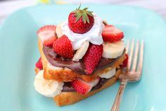 Strawberry-Banana Nutella Shortcake