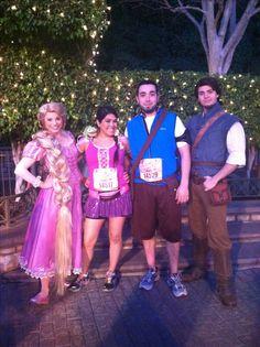 Rapunzel and Flynn Rider running costume for RunDisney's tinkerbell half marathon