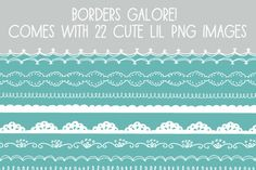 Hand-Drawn Borders by Angie Makes on Creative Market