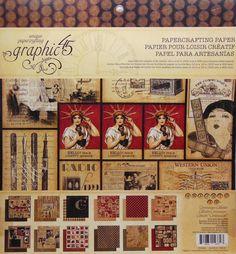 Graphic45 Communique 12x12 paper pack