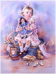 Paintbox Poppets : Grandma's Attic © Copyright Christine Haworth Designs