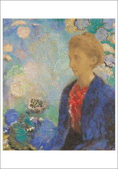 Odilon Redon, Baronne de Domecy, c. 1900 notecard