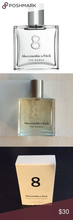 NWT 🆕 1.7oz Abercrombie & Fitch 8  for Women Never used, large 1.7oz Abercrombie & Fitch 8 Perfume! Perfect for a holiday gift, white elephant gift, or to travel with. BUNDLE with the other 8 Fragrance and Body Lotion for an extra discount!! They describe the fragrance best: The perfect combination of floral with a bit of edge, the essences of peach, jasmine and warm sandalwood come together seamlessly. The bottom tab on the box is torn off. 1.7oz / 50mL. Made in USA 🇺🇸 Abercrombie…