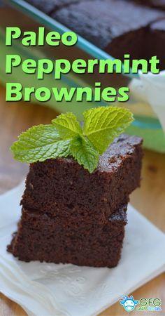 Gluten Free Paleo Peppermint Brownies | https://www.grassfedgirl.com/gluten-free-paleo-peppermint-brownies/