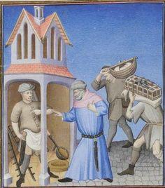 Publius Terencius Afer, Comoediae [comédies de Térence] ca. 1411;  Bibliothèque de l'Arsenal, Ms-664 réserve, 4v