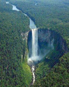 Kaieteur Falls in Potaro-Siparuni Region, Guyana
