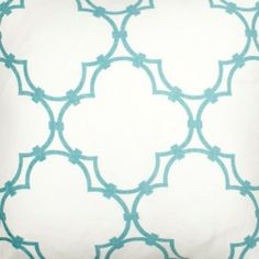 Quatrefoil Fabric in Light Blue from @COCOCOZY #fabric #linen #blue