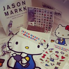 Was the first one in line to receive this #cute #hellokitty #jasonmarkk #tshirt thanks @jasonmarkk !! #hellokittyjunkie #stickers #hellokittyobsessed #ilovehellokitty