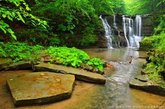 A rainstorm rolls in at Twin Falls in Glen Creek. Watkins Glen State Park in the Finger Lakes are of NY state. Beautiful, peaceful photo by Joe Braun Photography ©2014