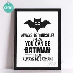 Batman Quote Canvas Art Print Poster Wall Pictures for Home Decoration black and white prints wall decor art No Frame Canvas Art Quotes, Canvas Art Prints, Framed Art Prints, Canvas Wall Art, Wall Art Prints, Canvas Frame, Quote Art, Canvas Poster, Poster Wall