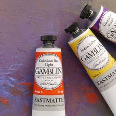 Gamblin FastMatte. Great for underpainting when you need a faster dry time. Also great for travel and residencies, where you have to move paintings after a short time.