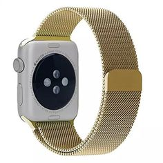 Apple Watch Band Replacement, Fancy C Best Milanese Loop Stainless Steel Bracelet Strap Replacement Wrist iWatch Band with Strong Magnet Lock for Apple Watch Sport and Edition 42mm - Gold. Stainless steel Milanese Loop with adjustable magnetic closure for Apple Watch 42mm all models. Refined dual fold-over clasp design, easily to take on/ remove, safe & fashion. Premium stainless steel metal features luxury, nobility, elegance & durability. Life time warranty. Authentic Products Only Come...