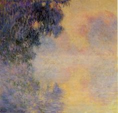 Claude Monet, The Arm of the Seine at Giverny in the Fog
