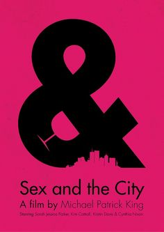 Sex & the City Minimalist Poster Tv serie show