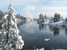 "Spokane Valley, Washington, ""Winter at the River"" by Dan Worrell"