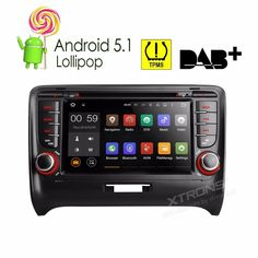 """7"""" Android 5.1 OS Special Car DVD for Audi TT MK2 2006-2014 with External TPMS System Support & DAB+ Receiver Box Support"""