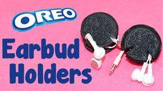 DIY Crafts: How To Make Oreo Cookie Earbud Holders - DIY  Earphone Organ...