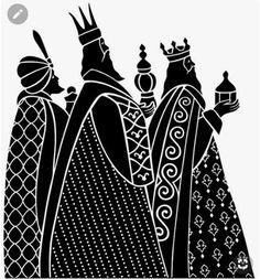 The Three Wise Men - Modern Black Christmas Black Christmas, Christmas Images, Christmas Colors, Christmas Graphics, Christmas Clipart, Christmas Nativity, Christmas Art, Vintage Christmas, Hallmark Christmas