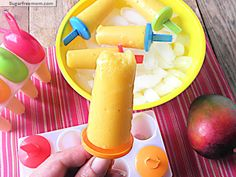 Orange Mango Popsicles [Dairy Free,No Sugar Added] | SugarFreeMom.com