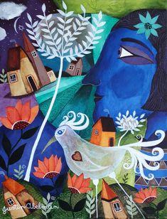 Paradise Blue by Justin Abelman Naive Artist