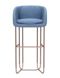 classy and lovely lines. Utah Bar Stool - Mid-Century / Modern Metal, Upholstery / Fabric Stool by Divya & Victoria Group