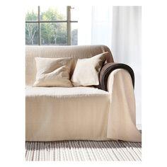 Überwurf für Couch und Bett, ca. 160x270cm Peter Hahn weiss
