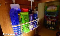 Bathroom Organizing Tip: Utalize Cabinet Doors for Additional Storage