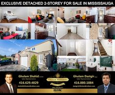 Residential for Sale In Mississauga For Showing Please Call & Description Recently Renovated Detached 2 Storey 3 Bedrm House In The Heart Of Mississauga. Both New Oak Staircases With Iron Pickets. New Flooring On Main & Bsm Sales Representative, Large Backyard, Patio Doors, In The Heart, Staircases, Neutral Colors, Real Estate, Iron, Windows