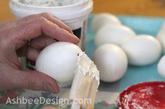 Filling holes in hand blown eggs and how to blow eggs