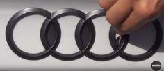 Audi Emblem gedippt mit mibenco Flüssiggummi schwarz matt